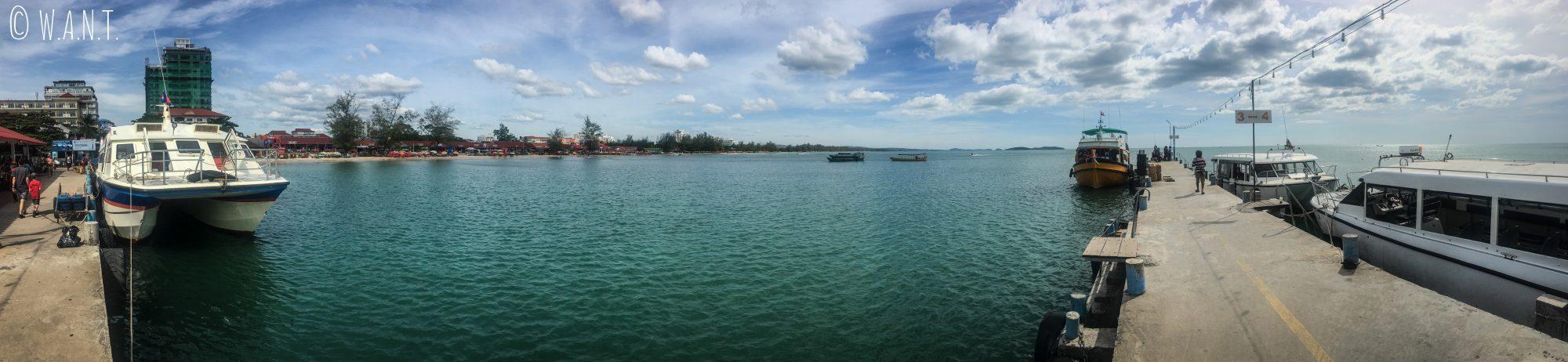 Panorama sur le port de Sihanoukville