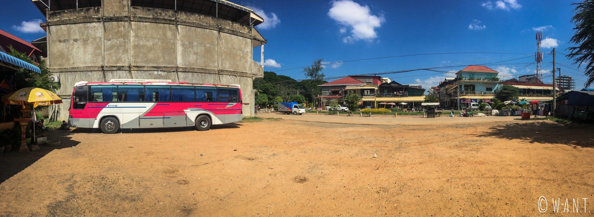 Pause lors de notre trajet entre Phnom Penh et Siem Reap