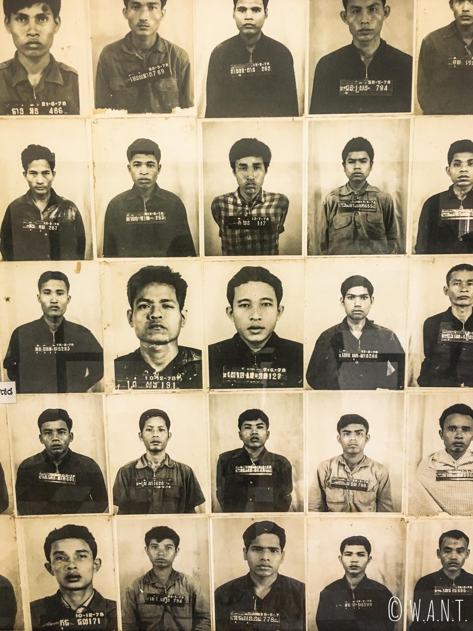 Photos de prisonniers de S-21 à Phnom Penh