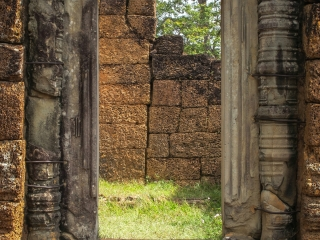 Porte du temple East Mebon à Angkor
