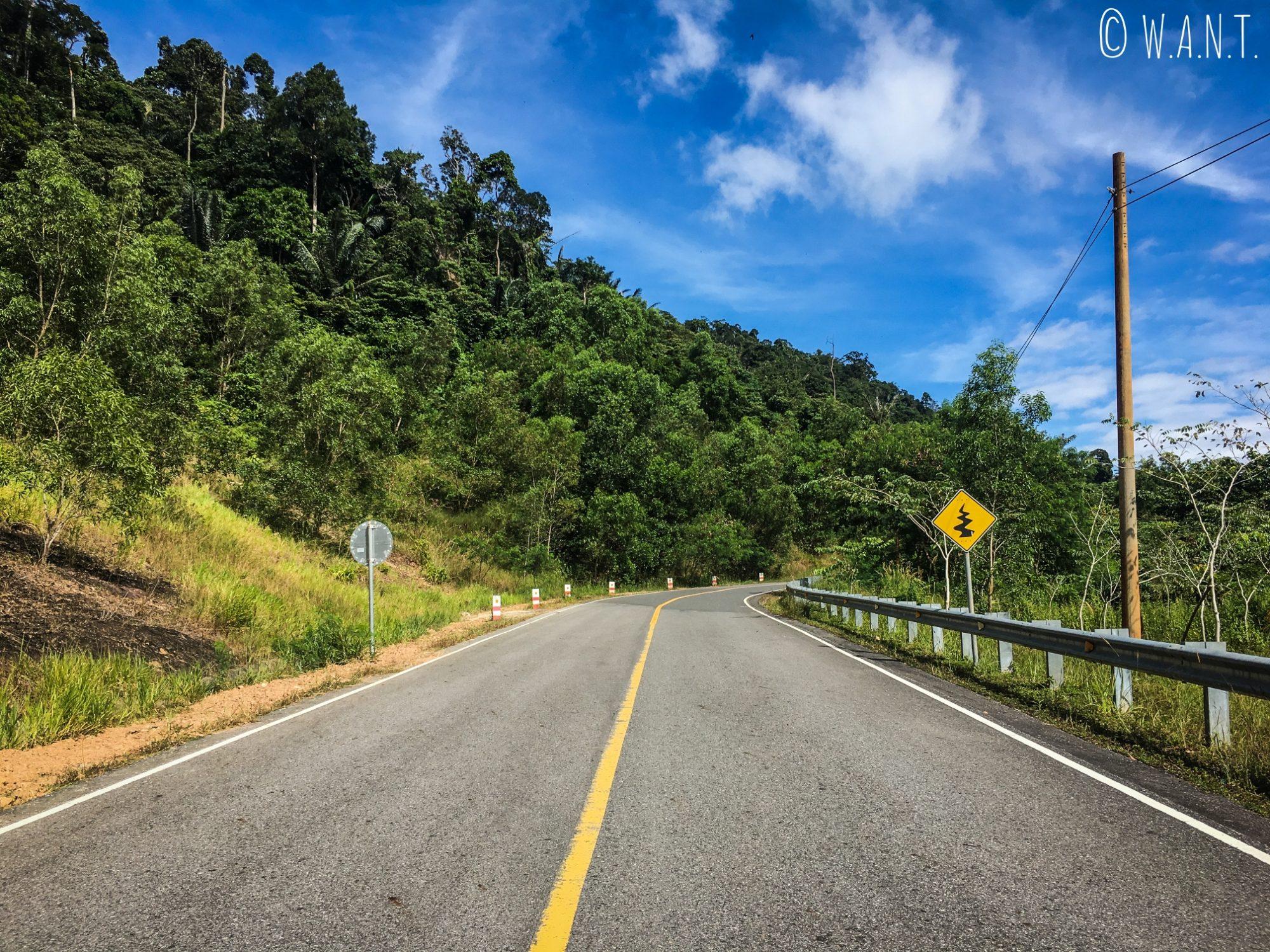 Route menant au sommet du mont Bokor près de Kampot