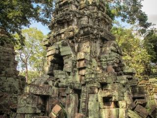 Ruines du temple Ta Phrom à Angkor