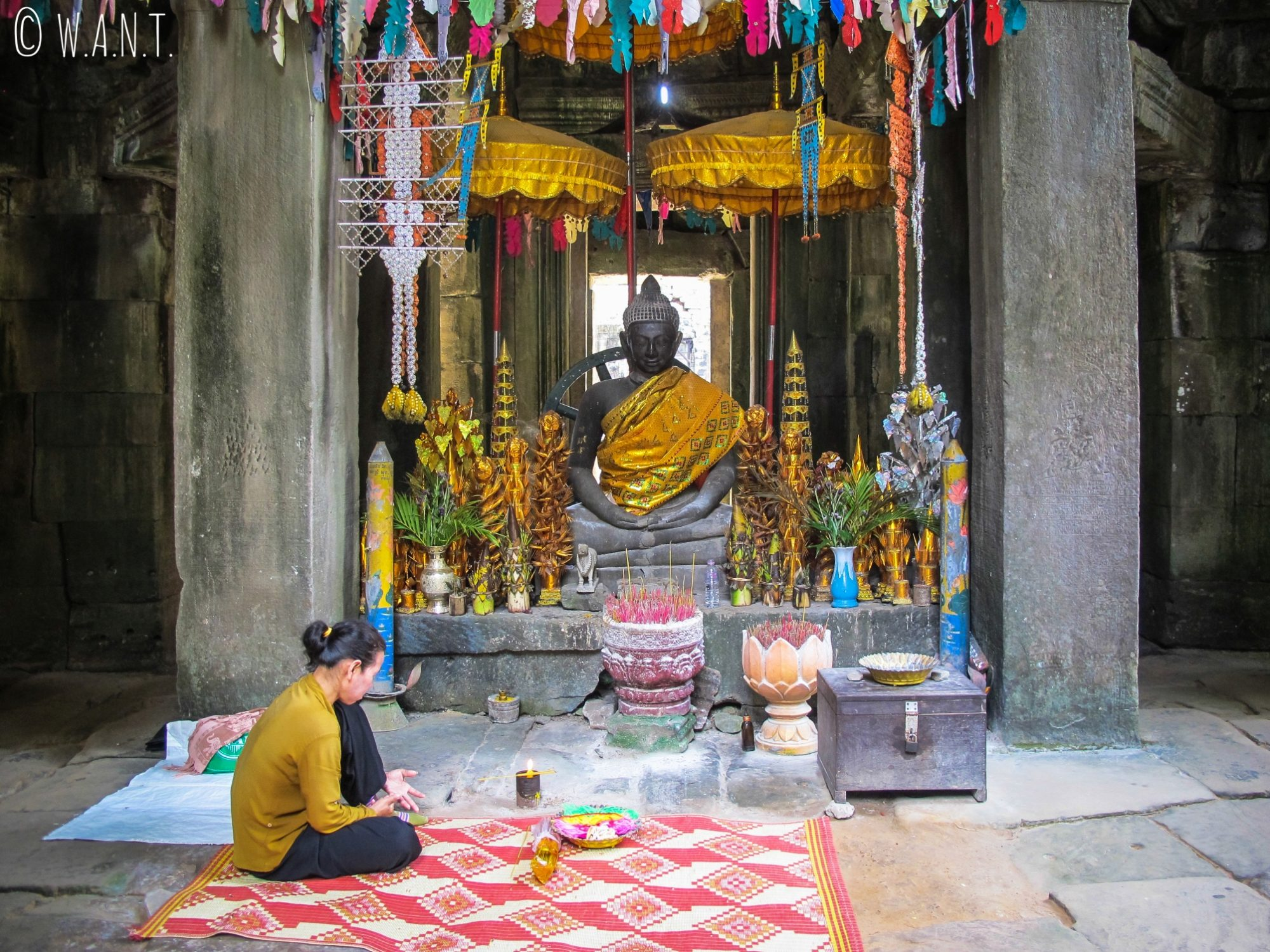 Statue de Bouddha au temple Banteay Kdei d'Angkor