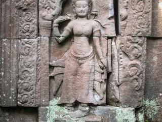 Statue du temple Preah Khan à Angkor