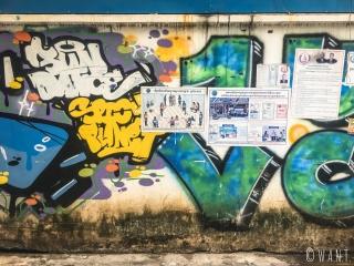 Tags dans les rues de Phnom Penh