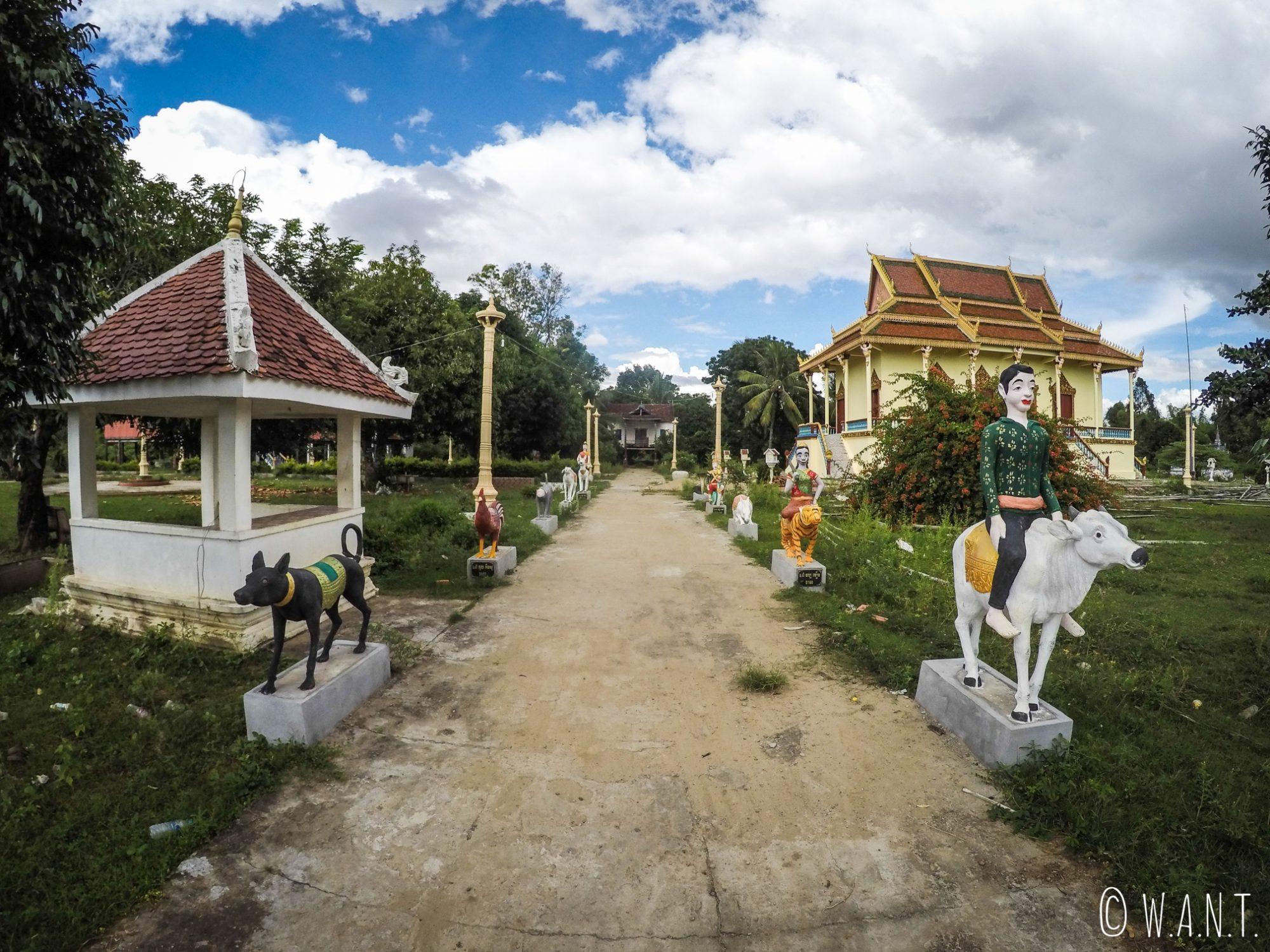 Temple sur l'île de Koh Trong