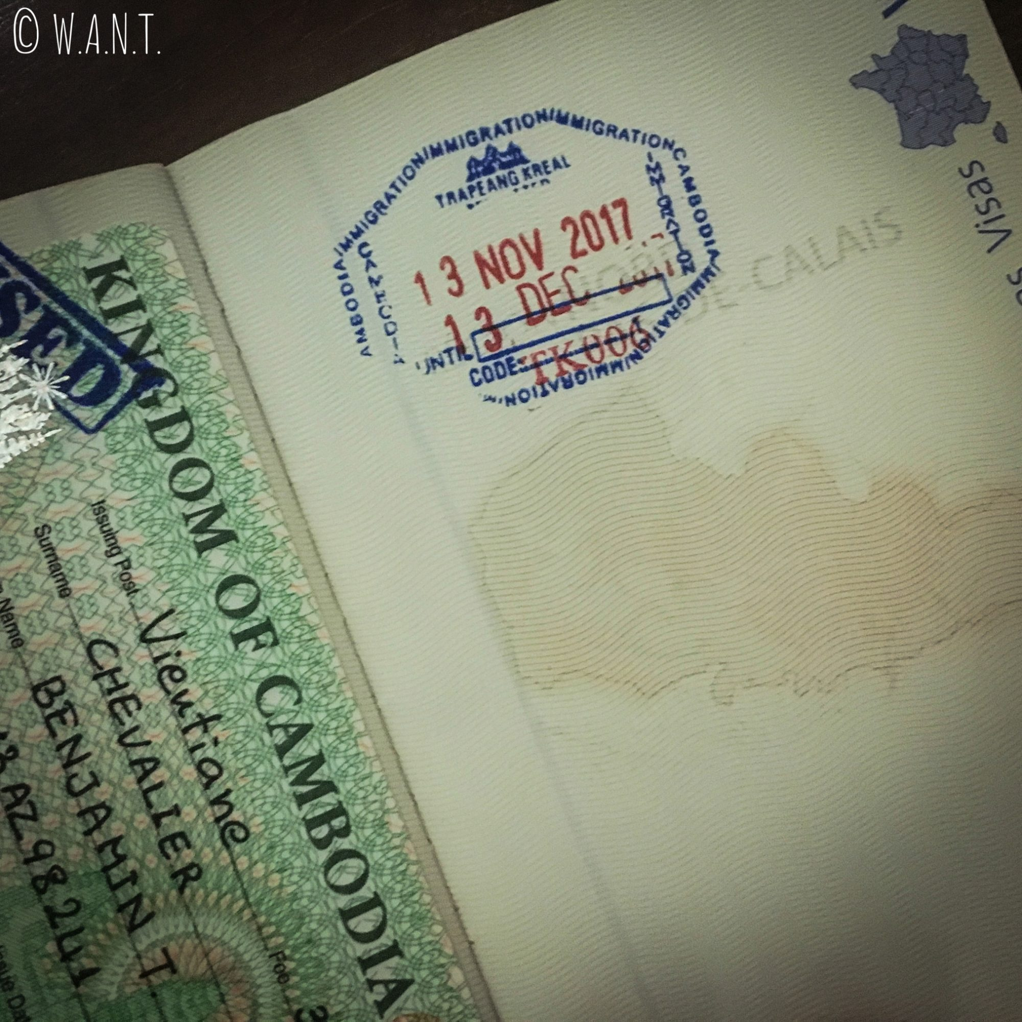 Visa pour rentrer au Cambodge