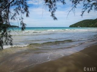 Vue depuis la plage proche de M'Pai Bay à Koh Rong Sanloem