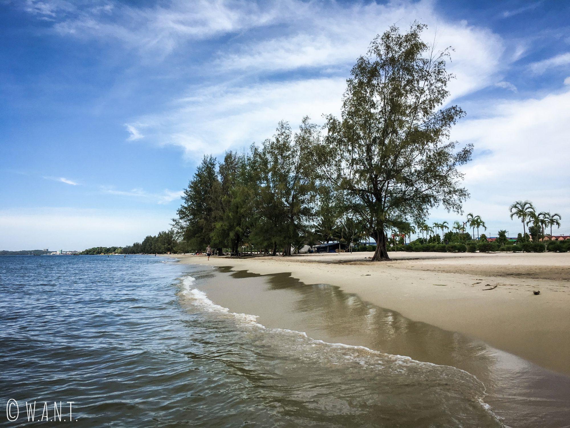 Vue sur la plage d'Otres de Sihanoukville