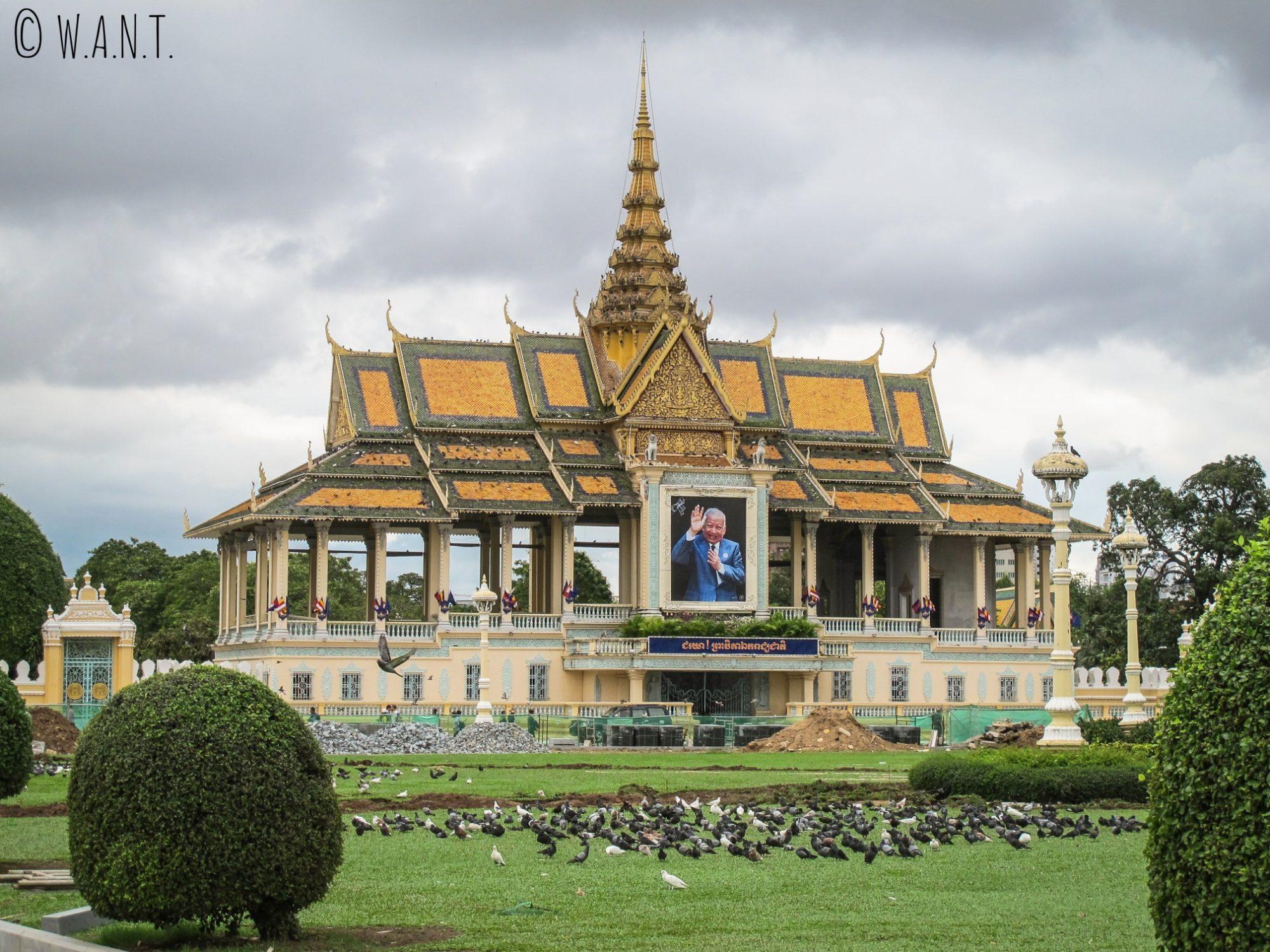 Vue sur le Palais Royal de Phnom Penh