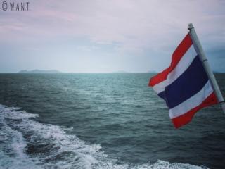 À bord du ferry pour rejoindre l'île de Koh Samui