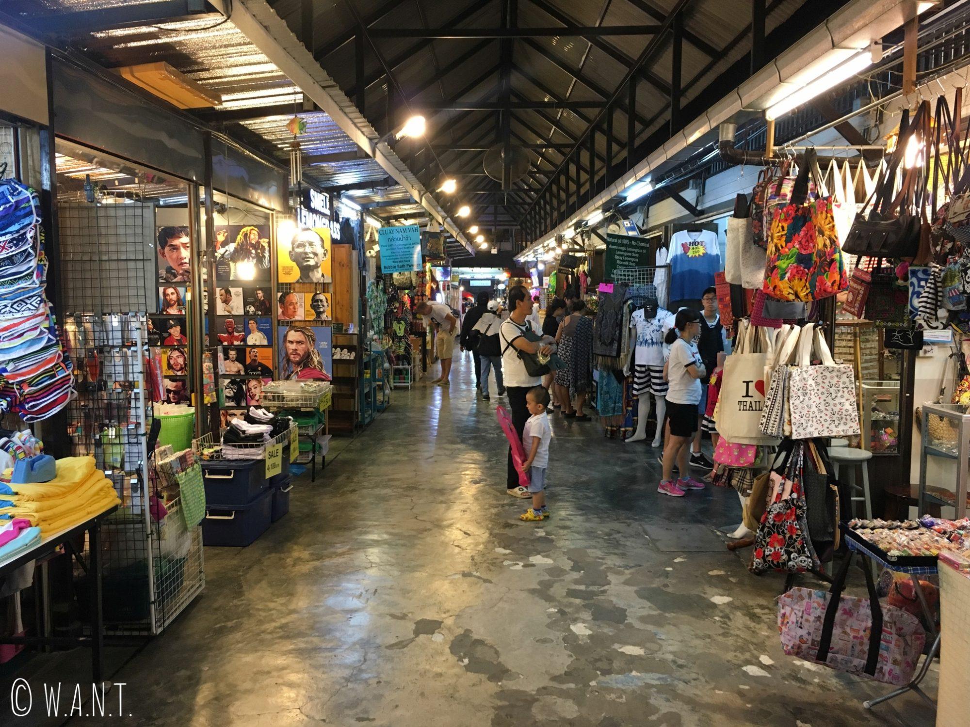Allée du marché de nuit de Hua Hin