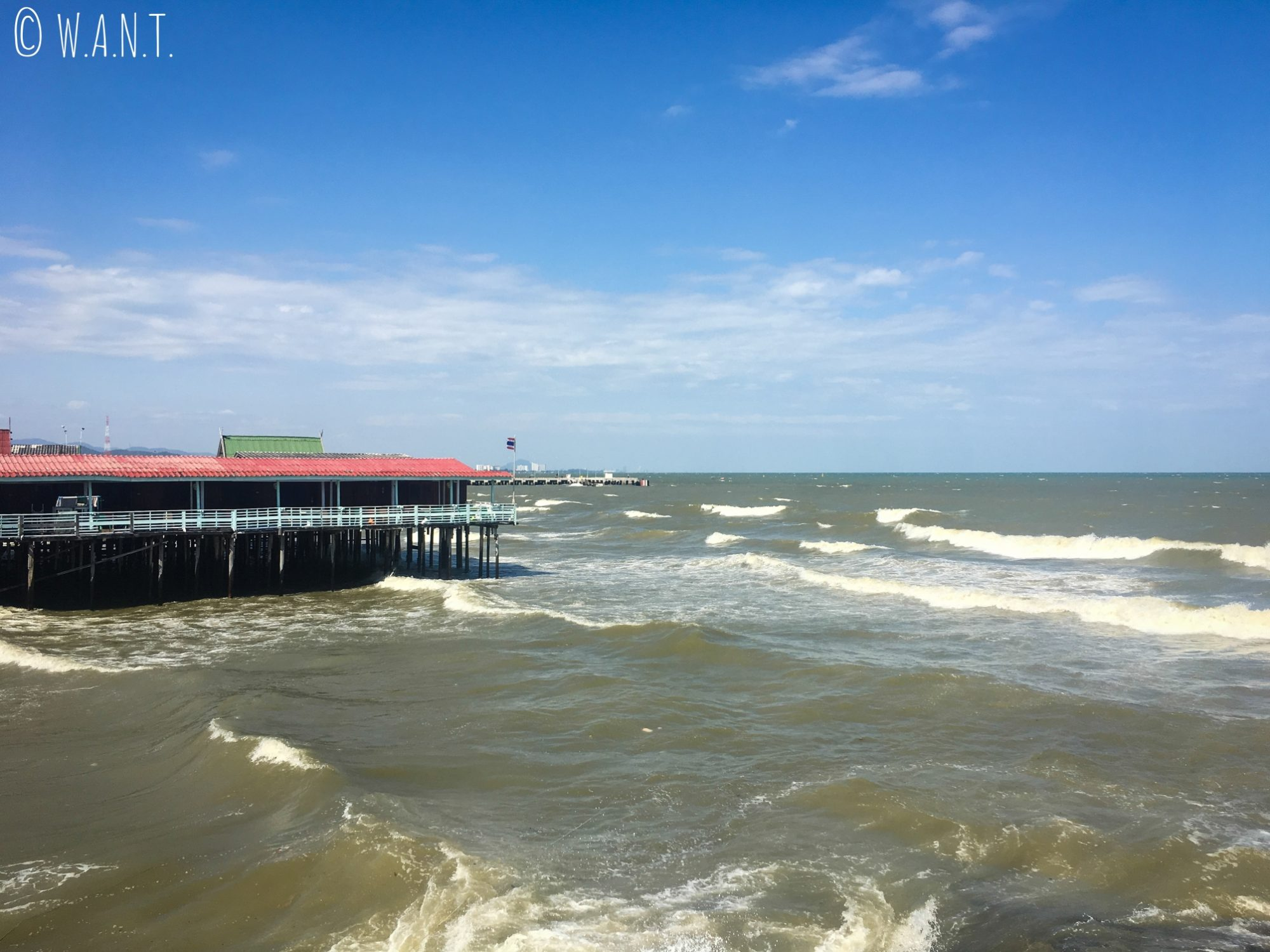 Mer déchaînée à Hua Hin