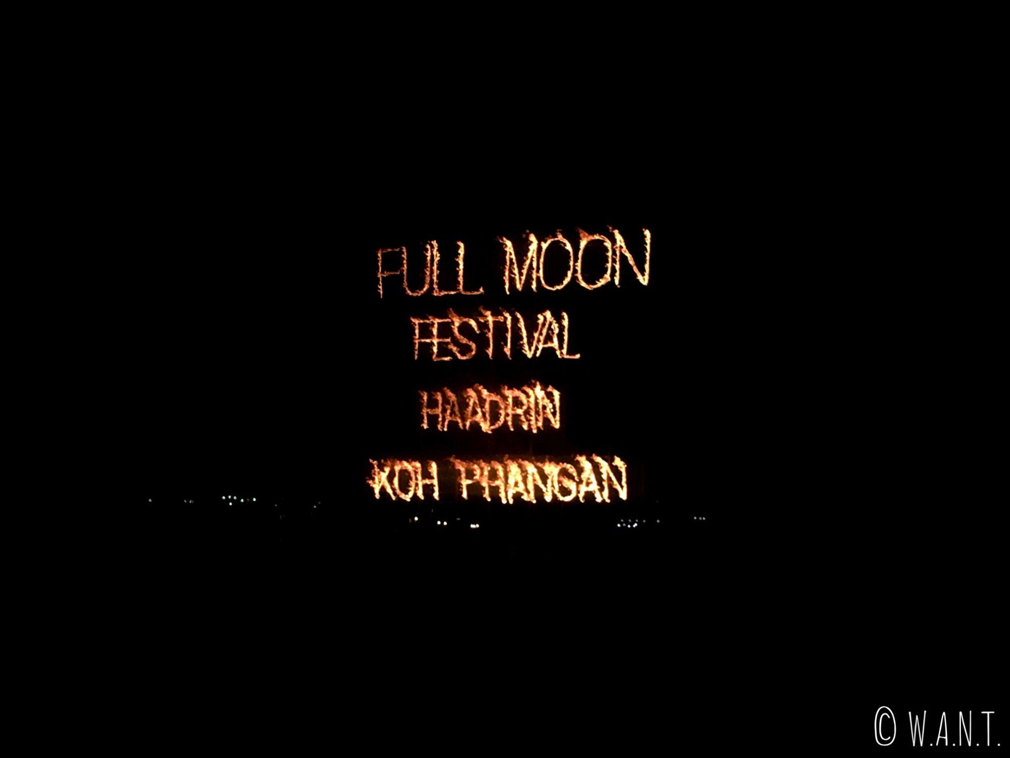 Nous étions à la première Full Moon Party de l'année à Koh Phangan