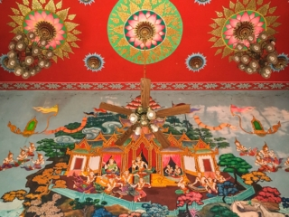 Peintures murales du Wat Plai Laem de Koh Samui
