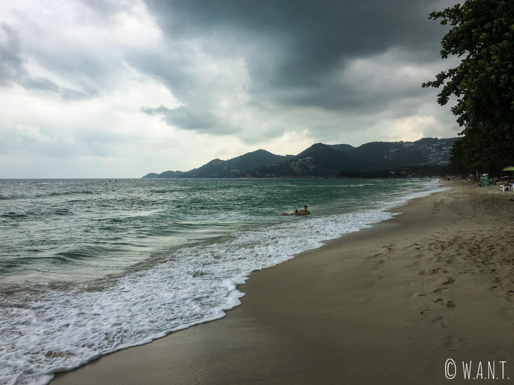 Plage de Chaweng sur l'île de Koh Samui