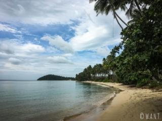 Plage de I-Talay et ses cocotiers sur Koh Samui