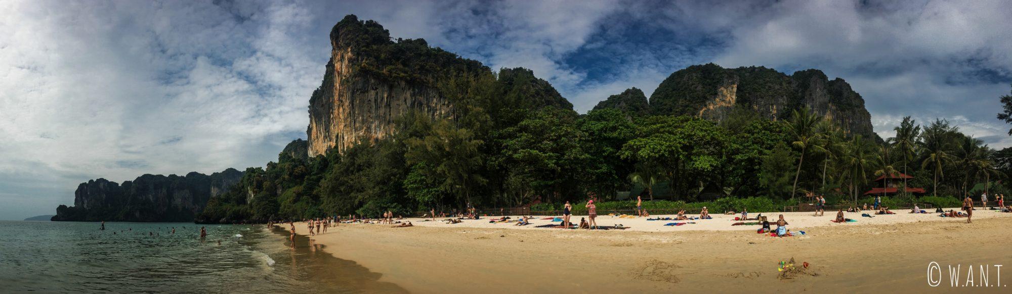 Plage de Railay Beach dans la province de Krabi