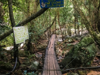 Pont d'accès aux cascades de Namuang à Koh Samui