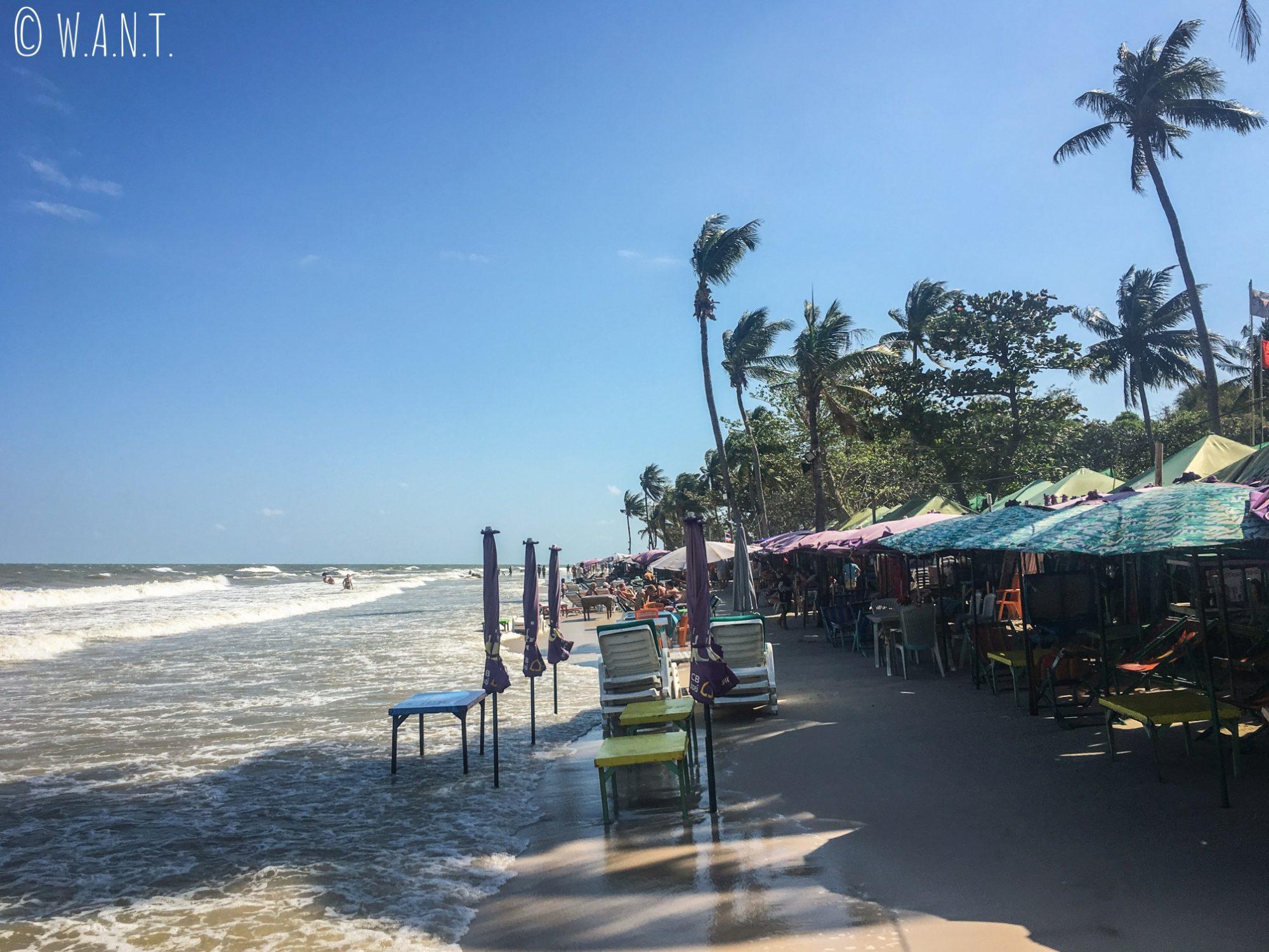 Restaurants sur la plage de Hua Hin