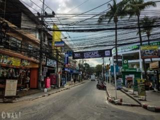 Rue de Chaweng sur l'île de Koh Samui
