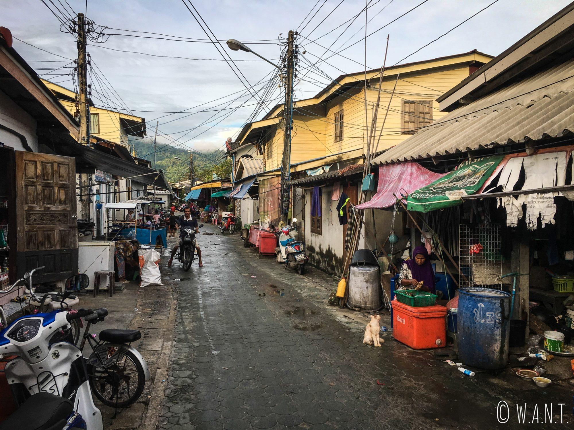 Rue du village musulman de Koh Samui
