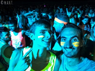 Selfie lors de la Full Moon Party de Koh Phangan