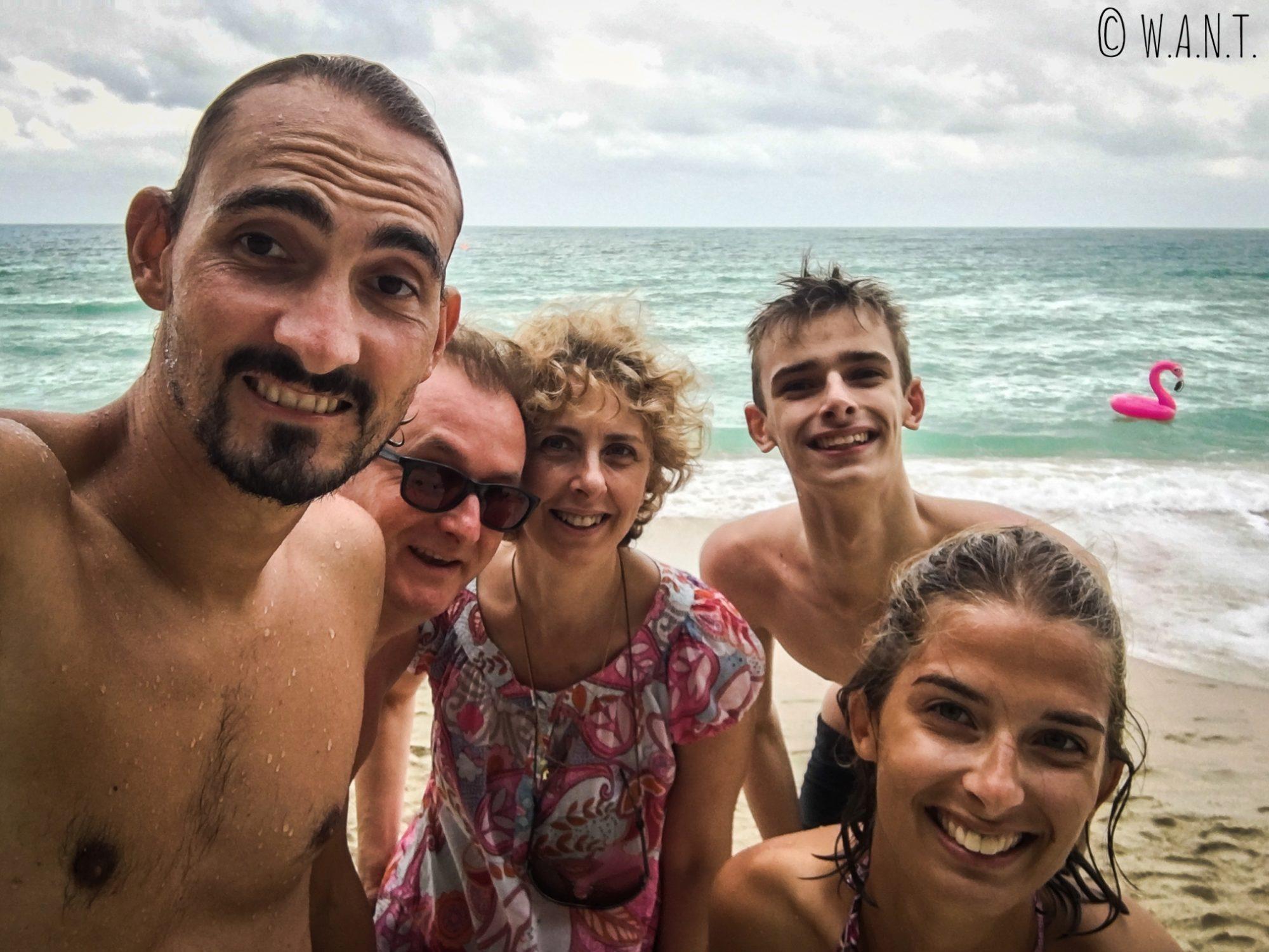 Selfie sur la plage de Chaweng à Koh Samui