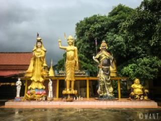 Statues au Wat Lamai de Koh Samui