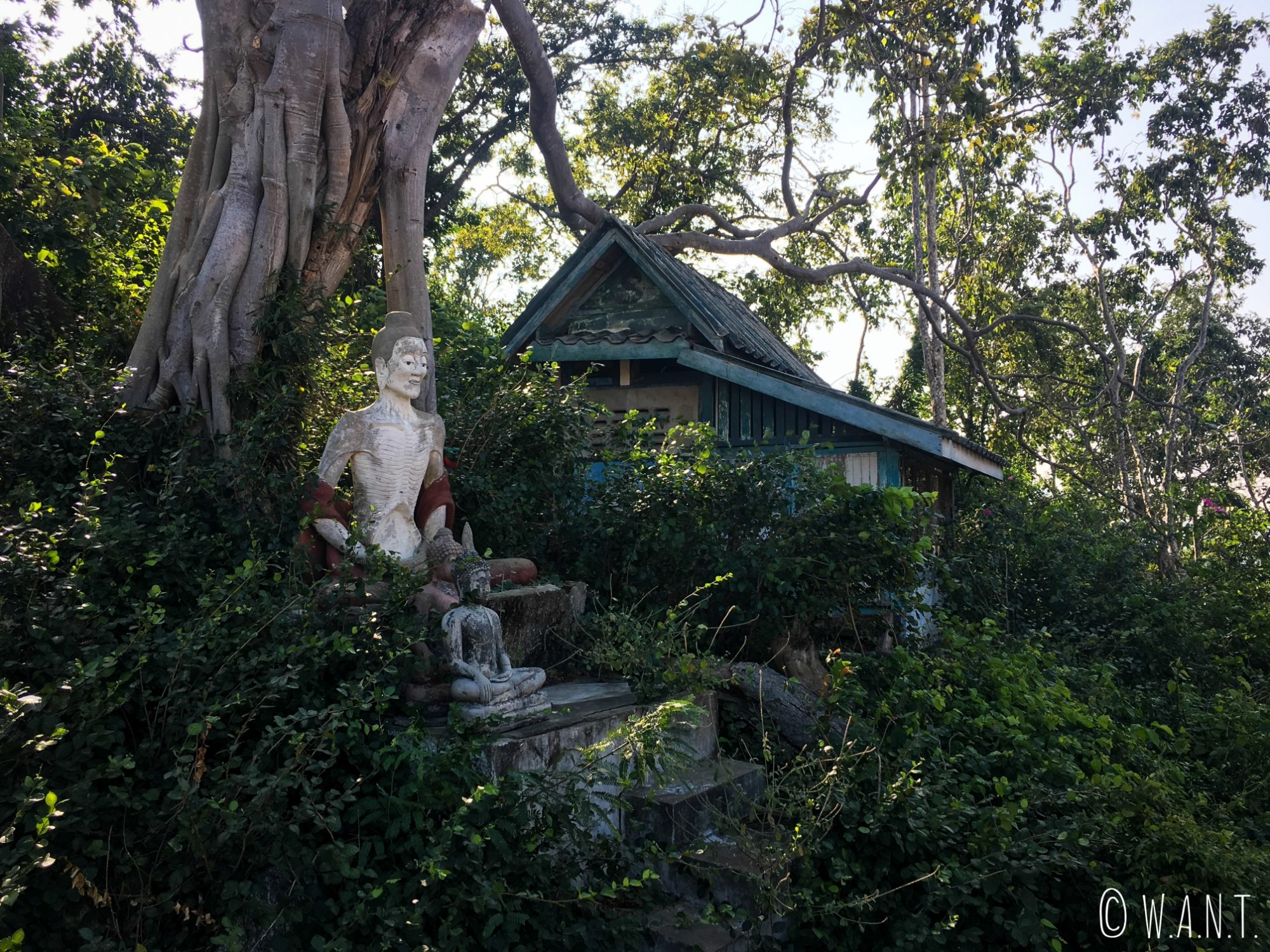 Statues de Bouddha au Wat Khao Takiab de Hua Hin