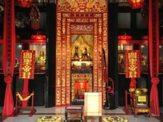Temple chinois Guan Yu Shrine l'île de Koh Samui