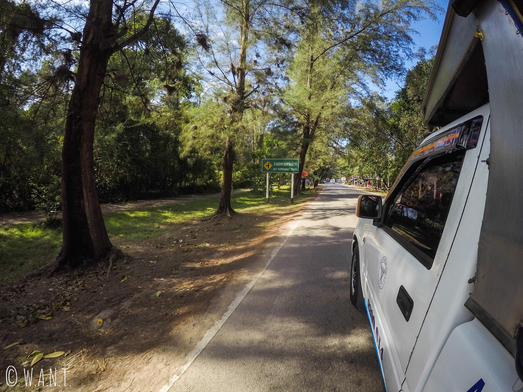Trajet en songthaew de Krabi town à Ao Nang