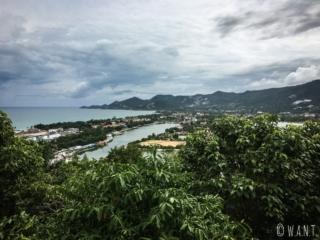Vue depuis le Khao Hua Jook Chedi sur l'île de Koh Samui