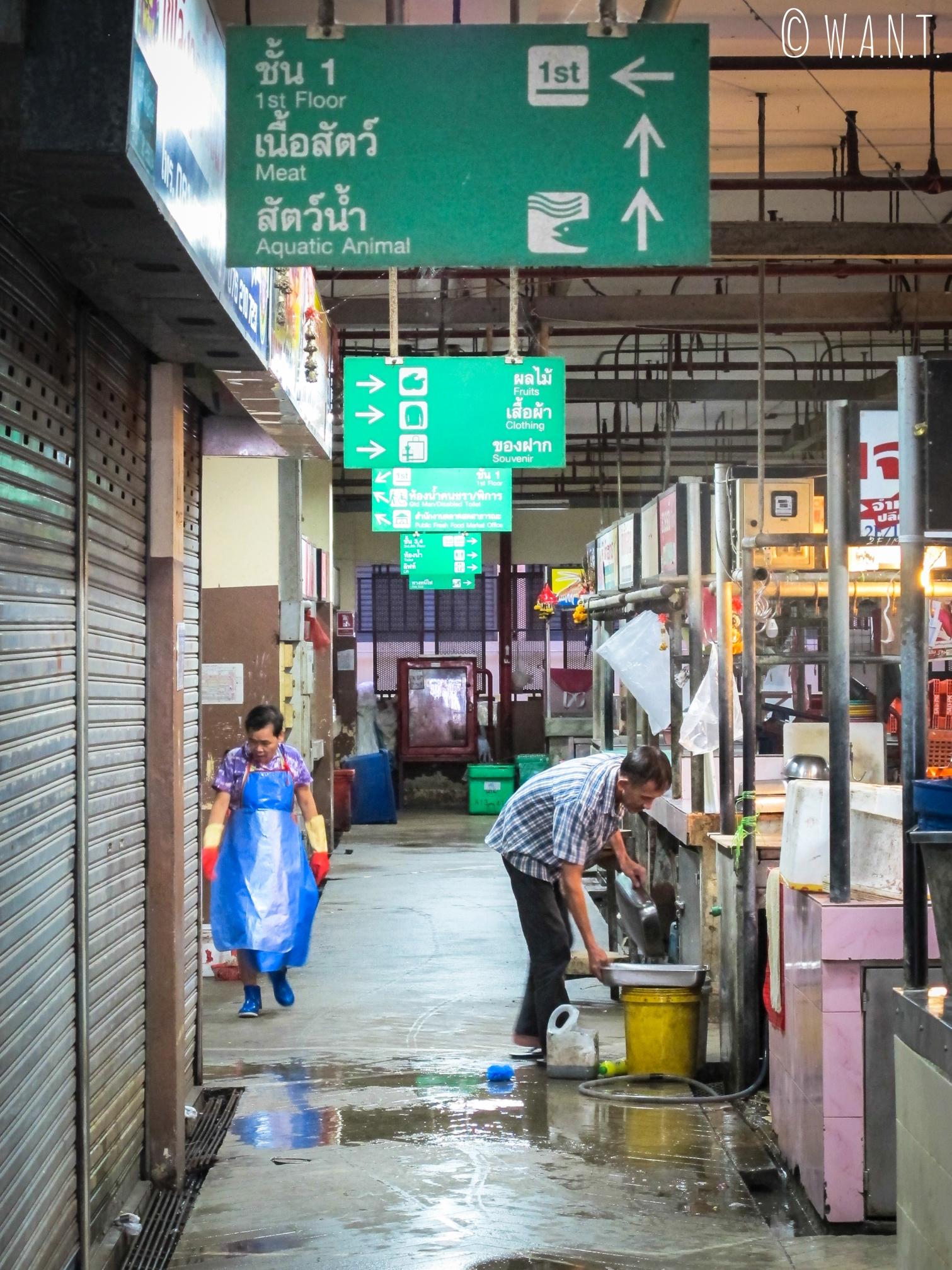 Allée du marché couvert du vieux Phuket