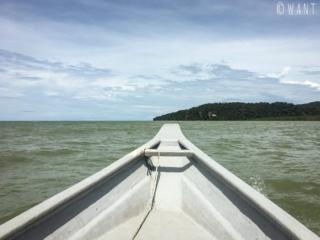 Arrivée en bateau au Bako National Park