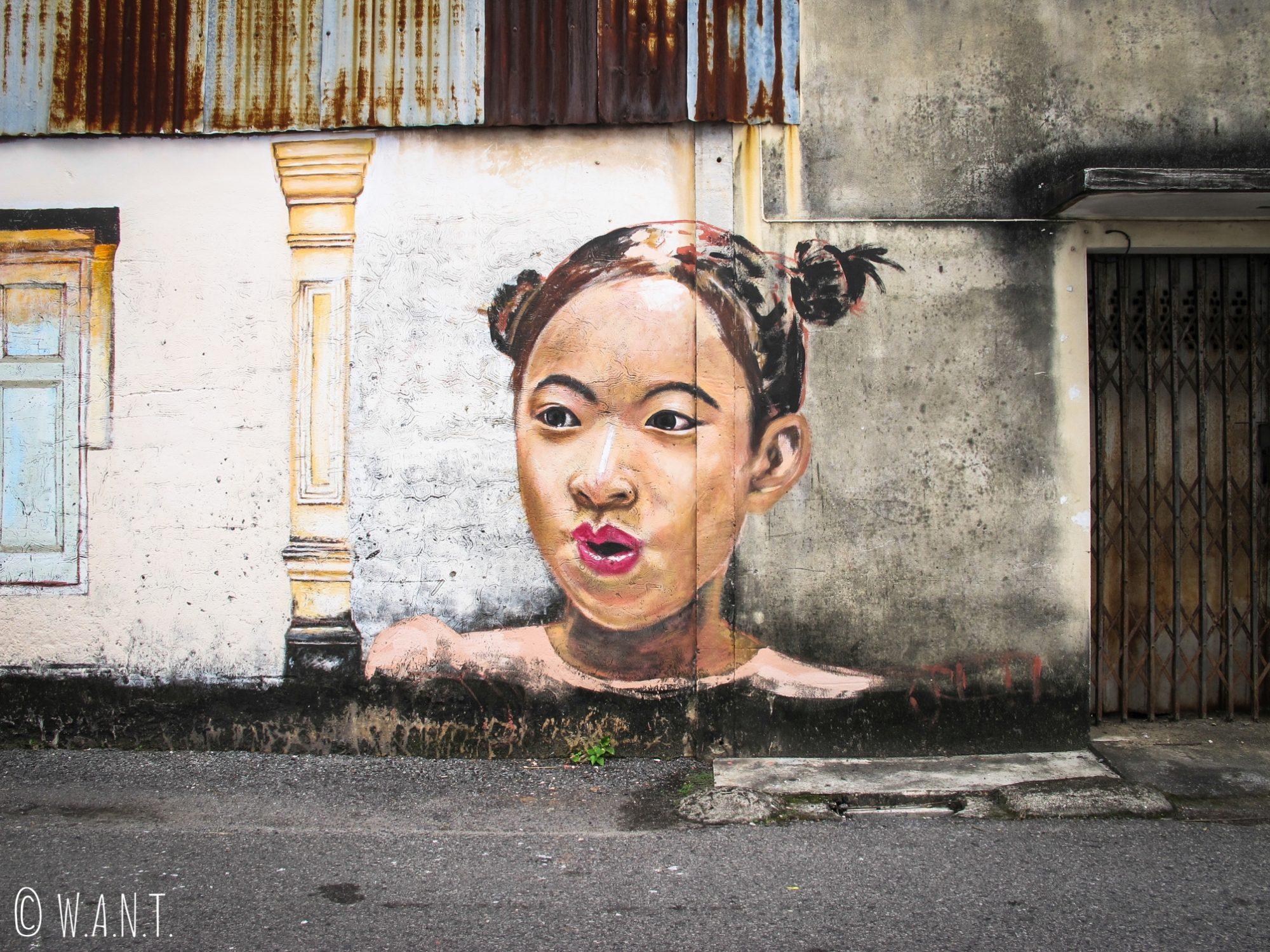 Art de rue dans le vieux Phuket