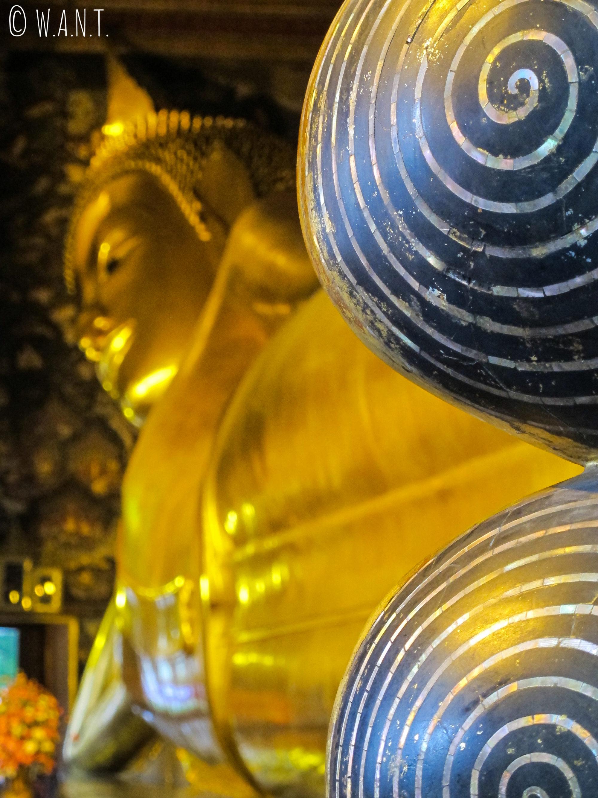 Bouddha couché du Wat Pho de Bangkok