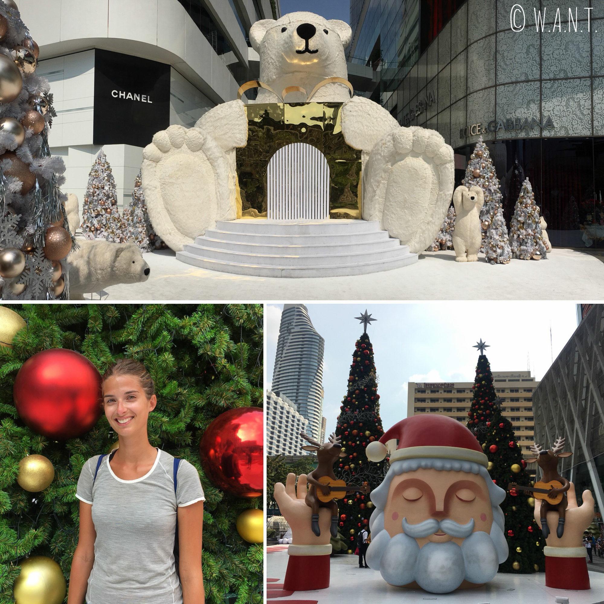 Décorations de Noël dans les rues de Bangkok