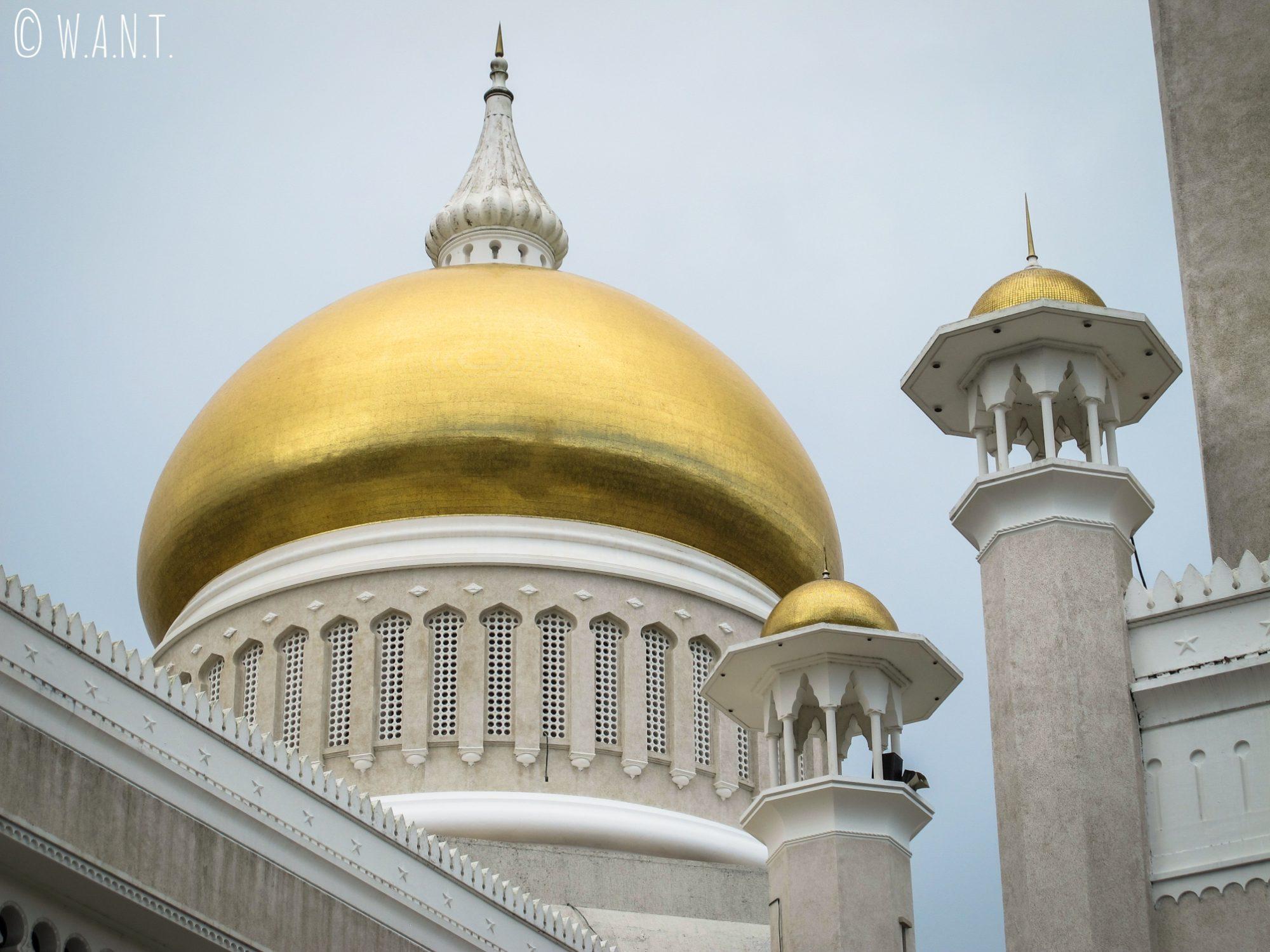 Dôme principal de la mosquée Masjid Omar Ali Saifuddien de Bandar Seri Begawan