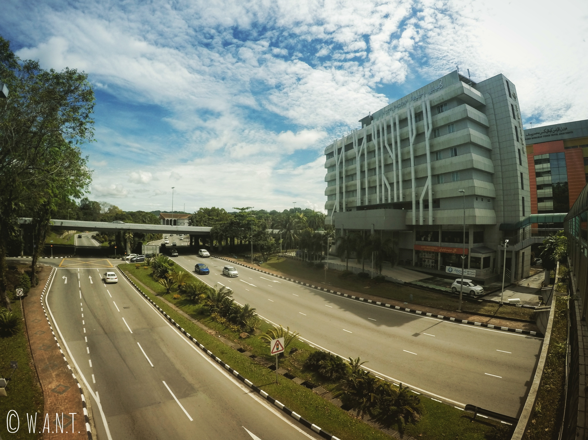 Façade du Badi'ah Hotel de Bandar Seri Begawan