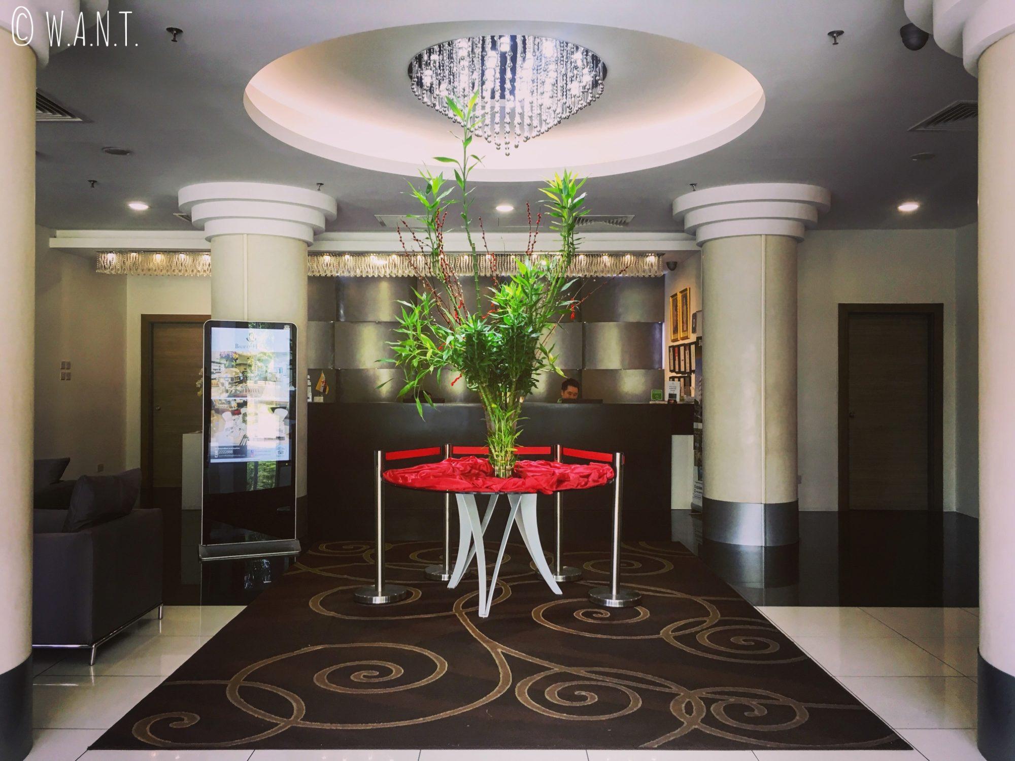 Hall d'entrée du Badi'ah Hotel de Bandar Seri Begawan