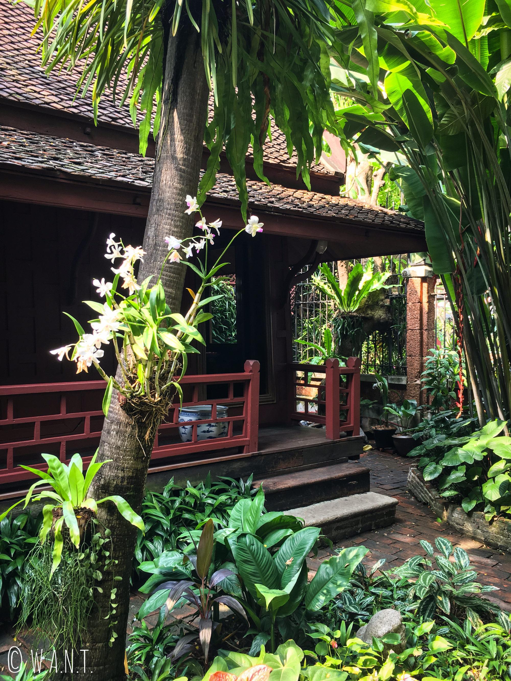 Jardin de la maison de Jim Thompson à Bangkok