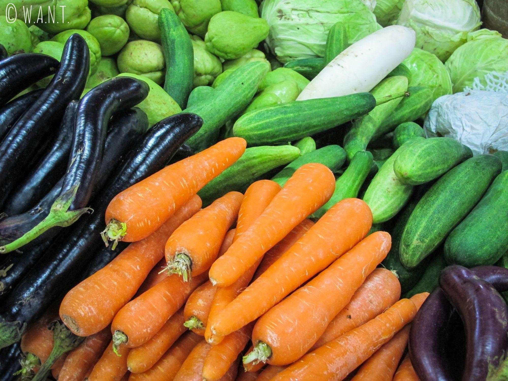 Légumes au marché Kianggeh de Bandar Seri Begawan