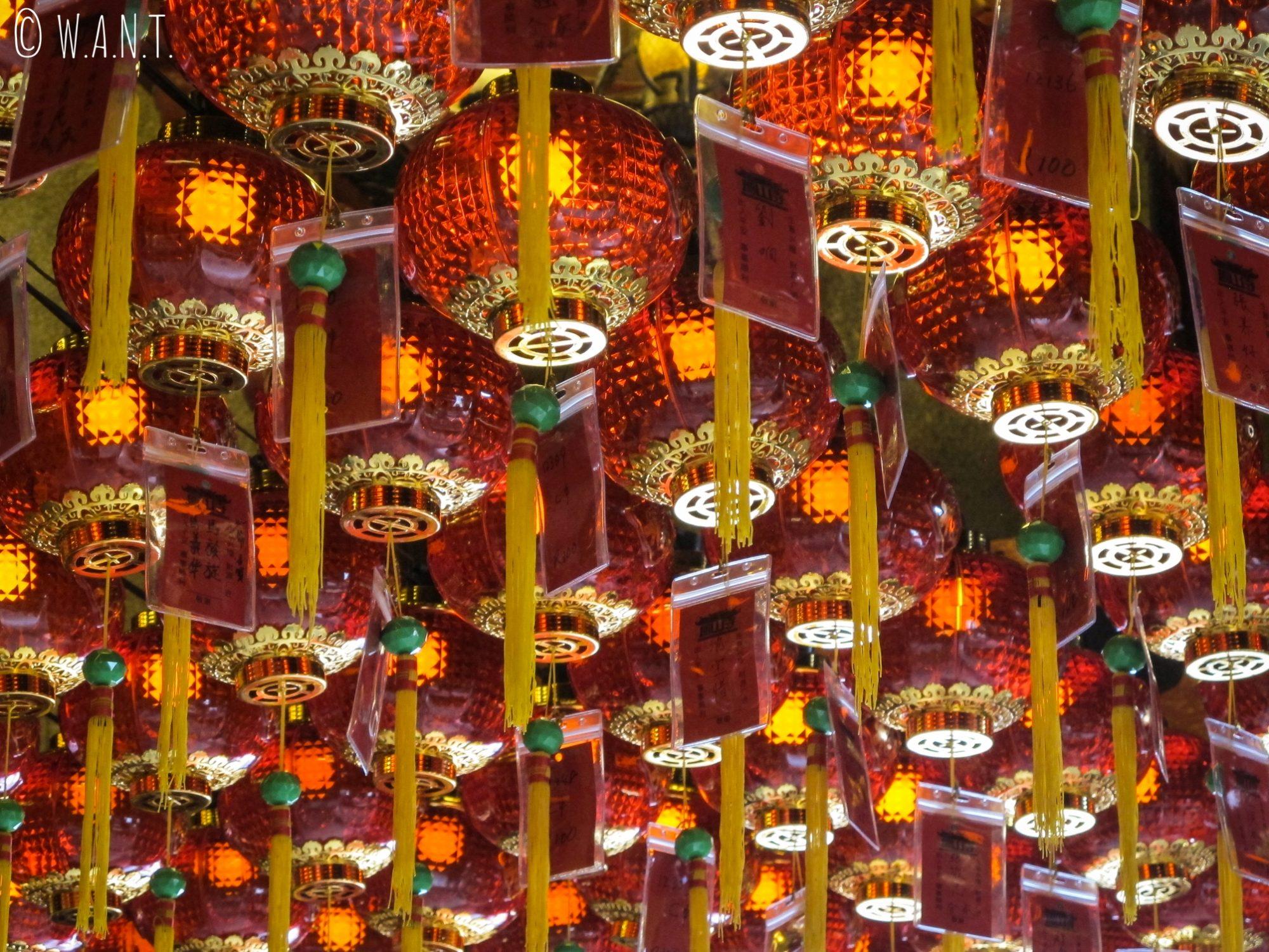 Lampions du Hong San Si Temple de Kuching