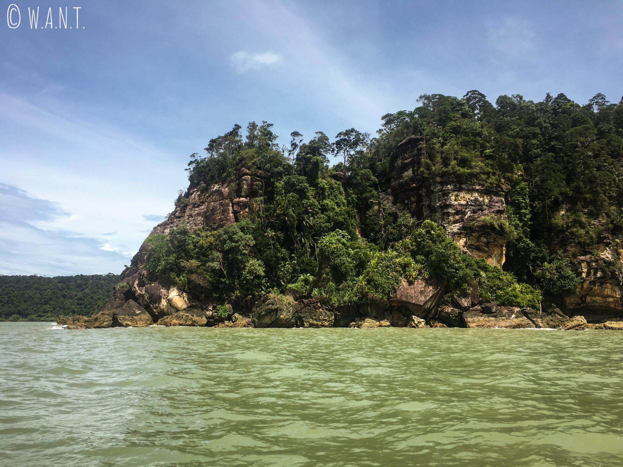 Paysage du Bako National Park depuis l'eau
