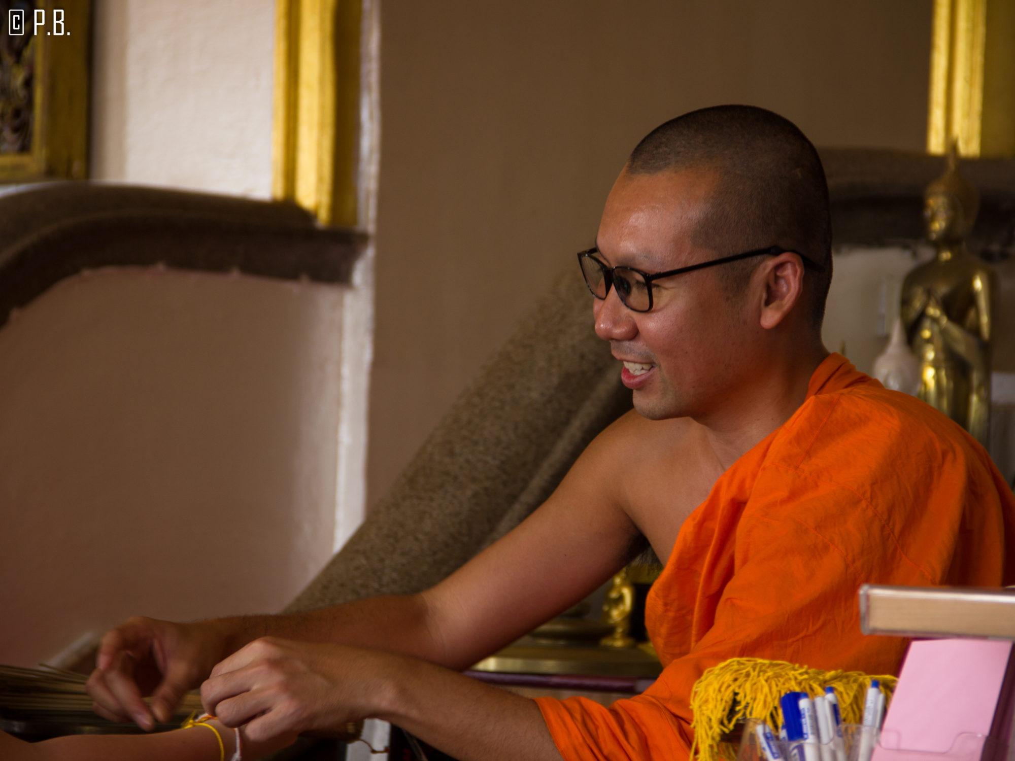 Portrait d'un moine du Golden Mount de Bangkok