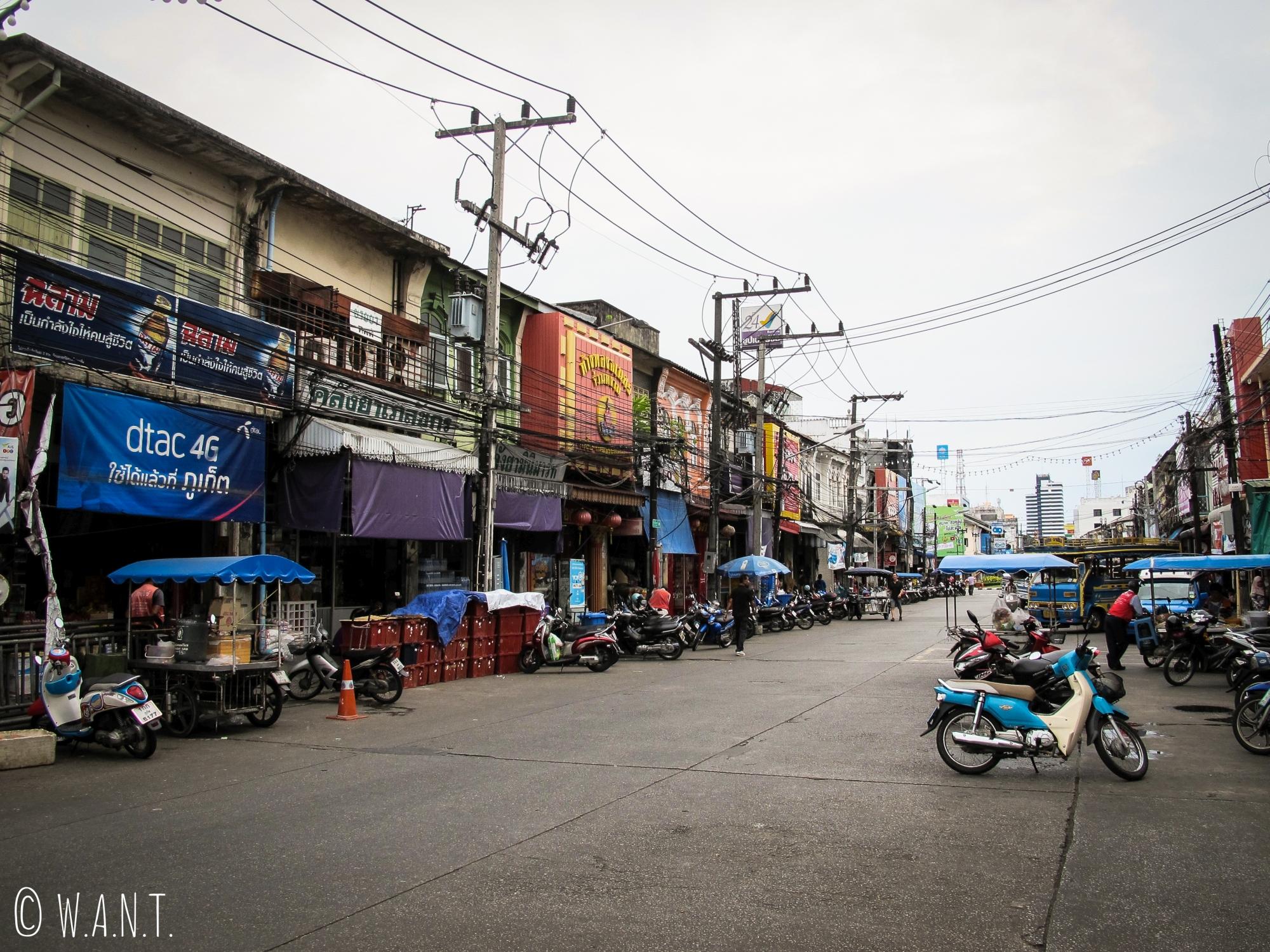 Rue du vieux Phuket