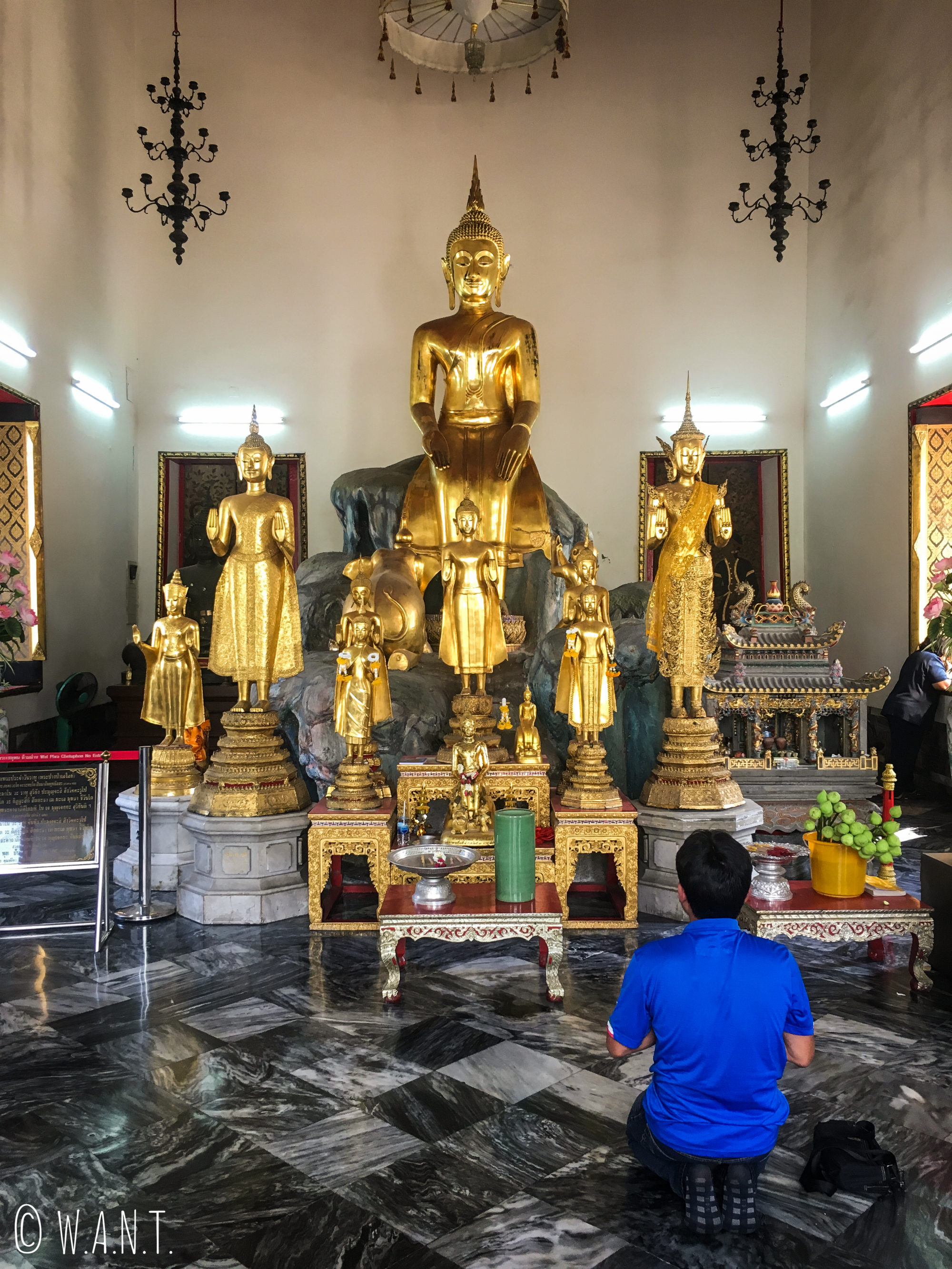 Statue de Bouddha au Wat Pho de Bangkok