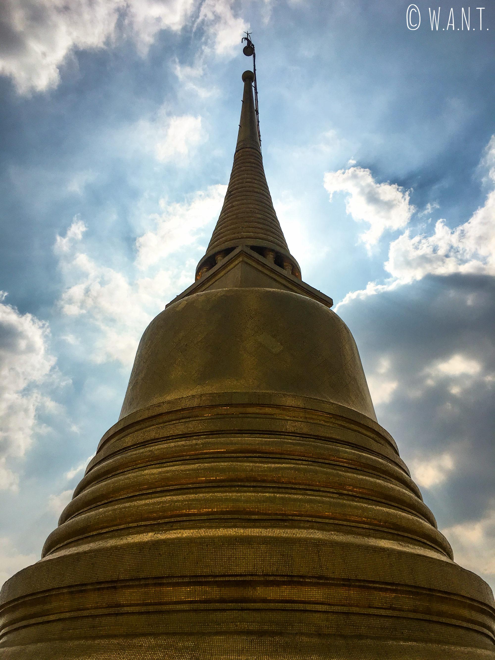Stupa doré du Golden Mount de Bangkok