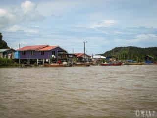 Village de pêcheurs d'où nous partons pour rejoindre Bako National Park